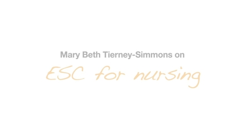 Thumbnail for entry MaryBeth Tierney Simmons Nursing Testimonial