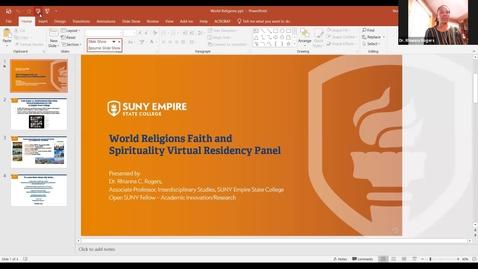 Thumbnail for entry World Religions Keynote Panel (Virtual Residency) 03/01/2021 Dr. Rhianna Rogers - video