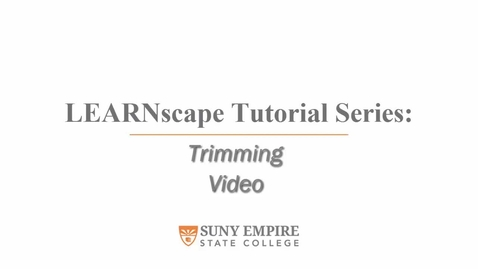 Thumbnail for entry Trimming Video