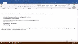 Thumbnail for entry AUDITING--M02 Six Elements of Quality Control