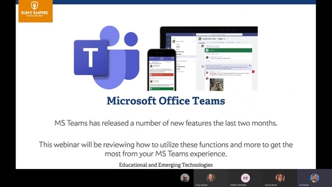 Thumbnail for entry New Features in MS Teams - 6/9/20