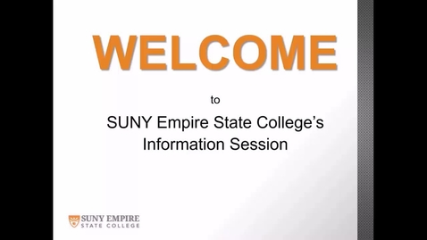 Thumbnail for entry Information Session
