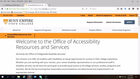 Thumbnail for entry Accessibility Resources and Services Overview