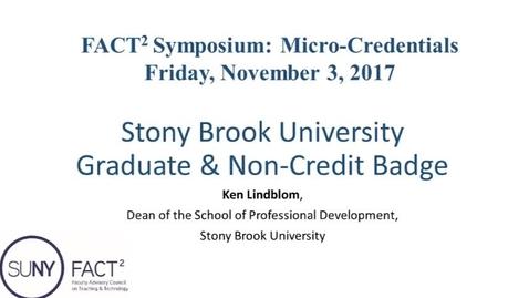Thumbnail for entry Stony Brook University Graduate & Non-Credit Badge