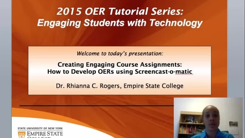 Thumbnail for entry OER Screencast-o-Matic