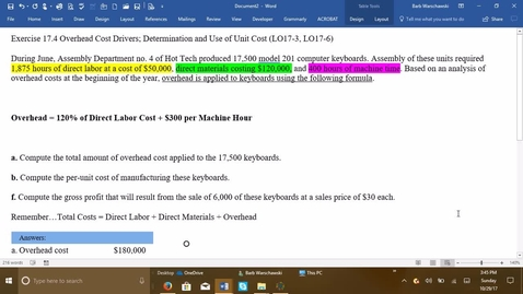 Thumbnail for entry 212064 Introductory Accounting 2 - Problem Demo Exercise 17-4