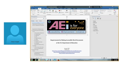 Thumbnail for entry Accessibility in Word and PowerPoint - Monday, October 16, 2017 11 AM