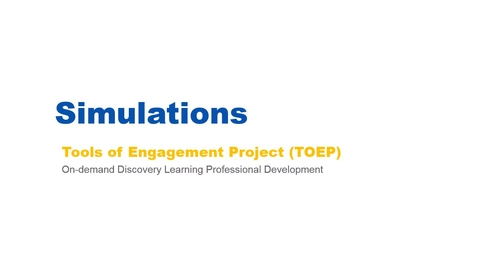 Thumbnail for entry Simulations Webinar - 02/07/17