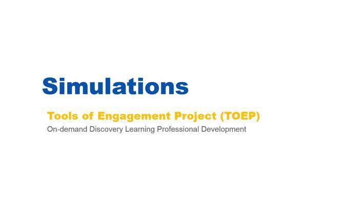 Simulations Webinar - 02/07/17