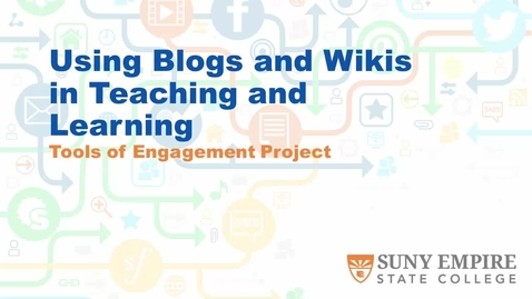 Thumbnail for entry Using Blogs and Wikis in Teaching and Learning - 01/20/17