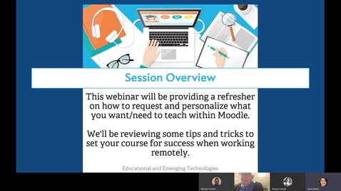 "Thumbnail for entry ""Preparing Your Online Course"" Webinar"