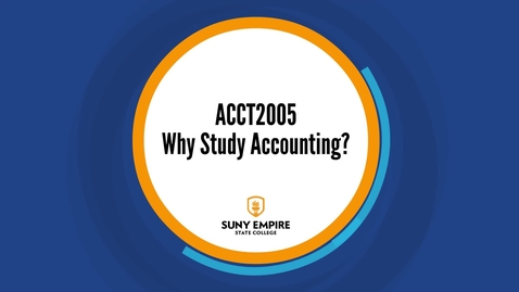 Thumbnail for entry Why Study Accounting