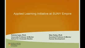 Thumbnail for entry Applied Learning Initiative - Gina Torino