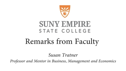 Thumbnail for entry 2015 Metro Commencement - Susan Tratner Faculty Address