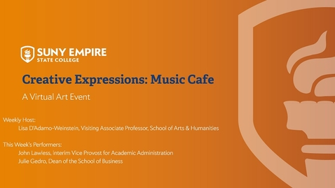 Thumbnail for entry Creative Expressions - Music Cafe - April 30, 2020