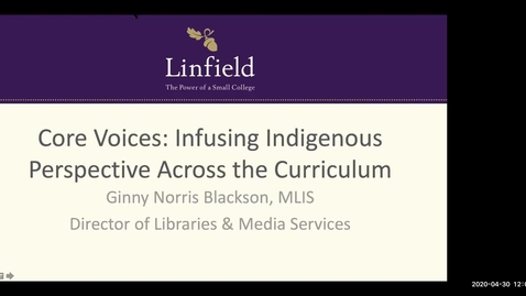 Thumbnail for entry Core Voices: Infusing Indigenous perspectives across the curriculum - Ginny Blackson