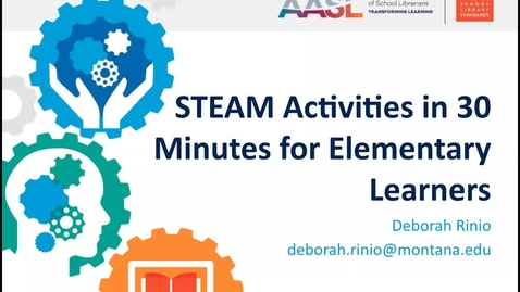 Thumbnail for entry STEAM Activities in 30 Minutes for Elementary Learners