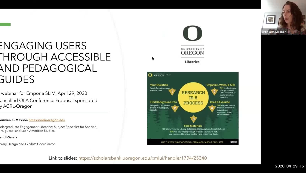 Engaging users through accessible and pedagogical guides at the University of Oregon