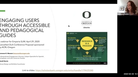 Thumbnail for entry Engaging users through accessible and pedagogical guides at the University of Oregon