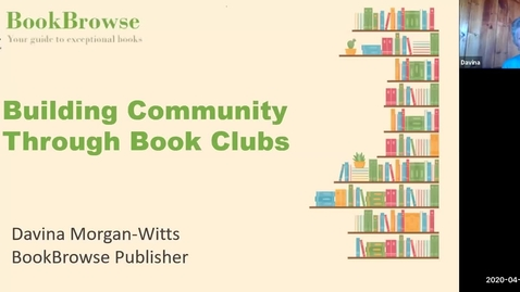Thumbnail for entry Building Community Through Book Clubs - Davina Morgan-Witts