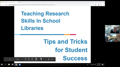 Thumbnail for entry Teaching Research Skills In School Libraries - Tips and Tricks for Student Success