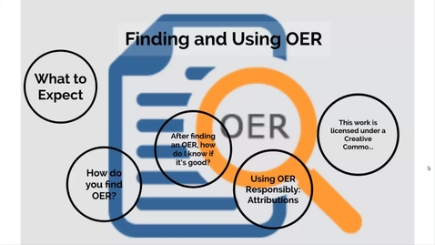 Thumbnail for entry Finding and Using OER