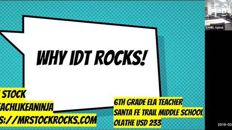 Thumbnail for entry Using Instructional Design and Technology in K-12 Education - IDT Alumnus, Josh Stock