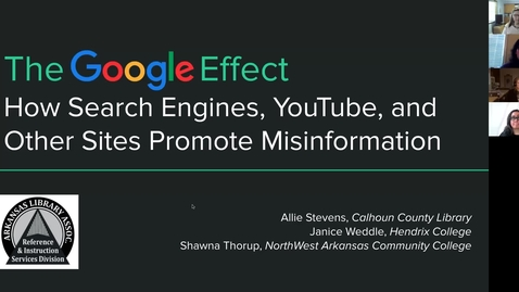 Thumbnail for entry The Google Effect: How Search Engines, YouTube, and Other Sites Promote Misinformation