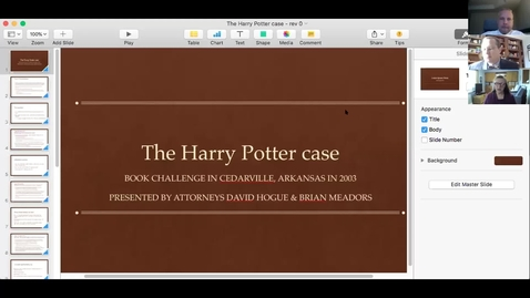 Thumbnail for entry Harry Potter and Library Law