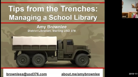 Thumbnail for entry Tips from the Trenches: Managing a School Library