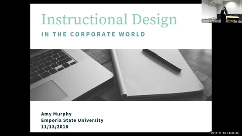 Thumbnail for entry Instructional Design and Technology in the Corporate Setting, IDT Alumnus - Amy Murphy