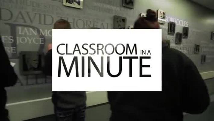 Classroom in a Minute  WRIT 121