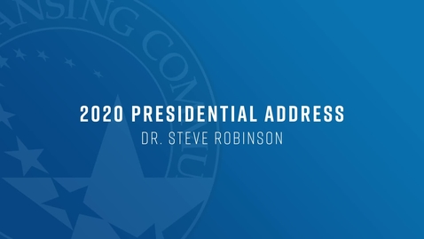 Thumbnail for entry Presidential Address - Fall Kickoff 2020