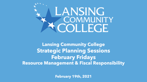 Thumbnail for entry February Fridays: Strategic Planning Sessions: Resource Management & Fiscal Responsibility
