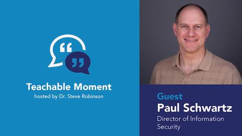 Thumbnail for entry Teachable Moment - Paul Schwartz