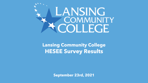 Thumbnail for entry HESEE Survey Results September 23rd