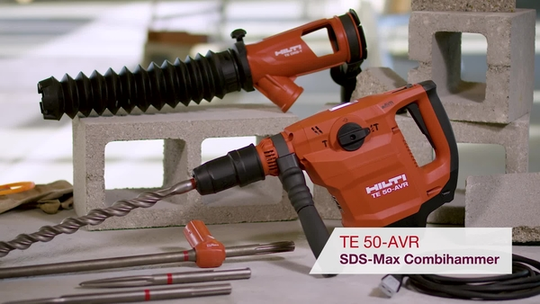 Product video of Hilti's SDS-max combihammer TE 50-AVR
