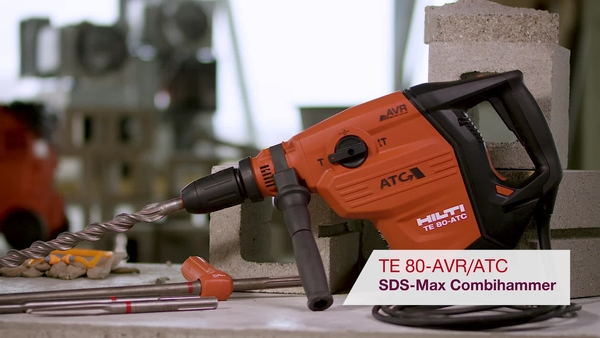 Product video of Hilti's SDS-max combihammer TE 80-ATC/AVR