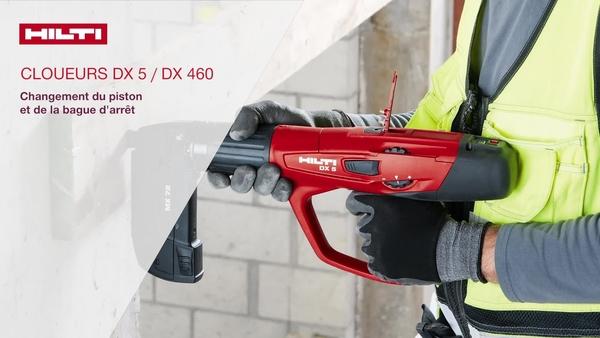 DX 5, DX 460 -Remplacement du piston et du tampon.