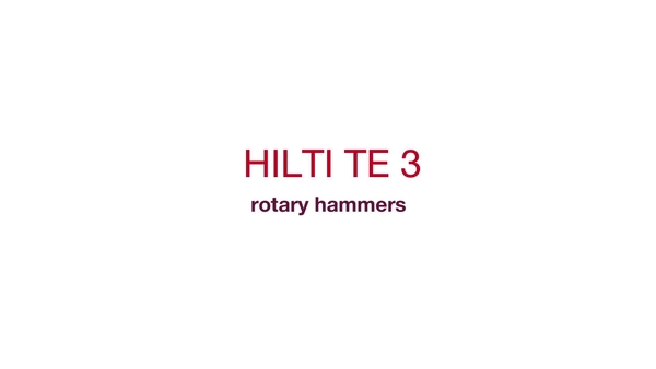 TE 3 rotary hammers - Built to drill more.
