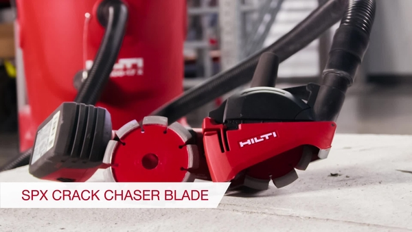 Product video of Hilti's crack chaser blade SPX