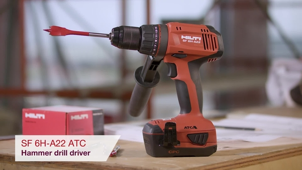 Product video of Hilti's cordless hammer drill driver SF 6H-A22