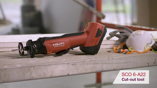 Product video of Hilti's cut-out tool SCO 6-A22