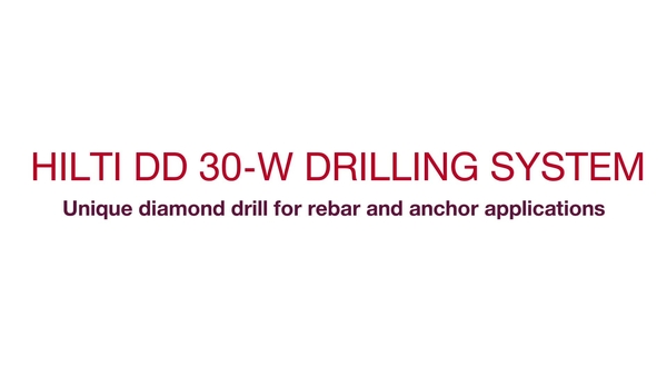 Product video of Hilti's diamond drilling machine for handheld coring DD 30-W in French (Canada)