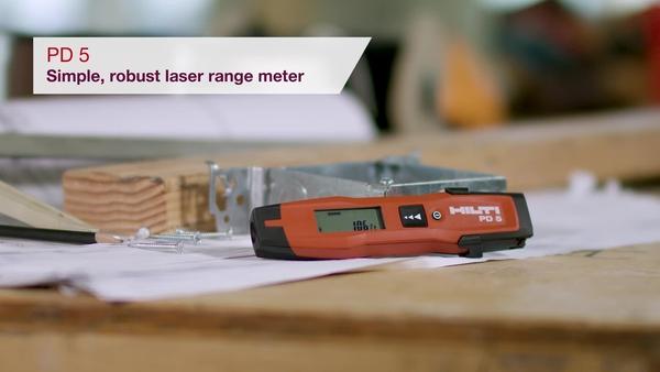 Product video of Hilti's laser measurer PD 5