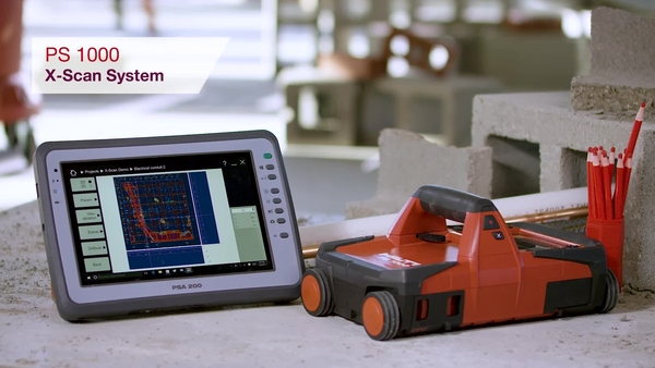 Product video of Hilti's detector PS 1000 X-Scan system
