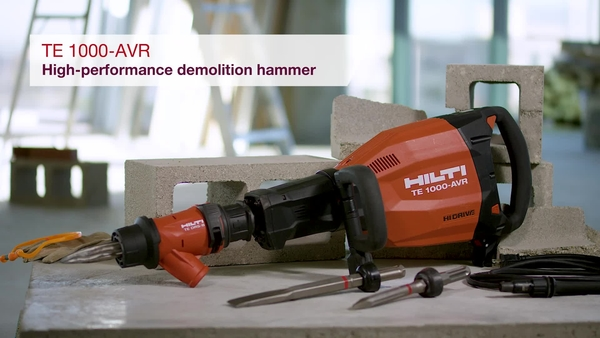 Product video of Hilti's demolition hammer TE 1000-AVR