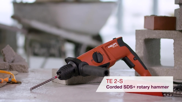 Product video of Hilti's SDS rotary hammers TE 2 and TE 2-S