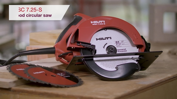 Product video of Hilti's circular saw WSC 7.25-S