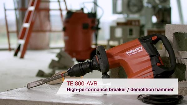 Product video of Hilti's breaker/demolition hammer TE 800-AVR